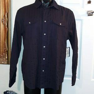 Nautica Jean's Company Black Button Down Shirt NWT